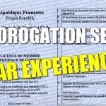 Prorogation SEP par expérience #2