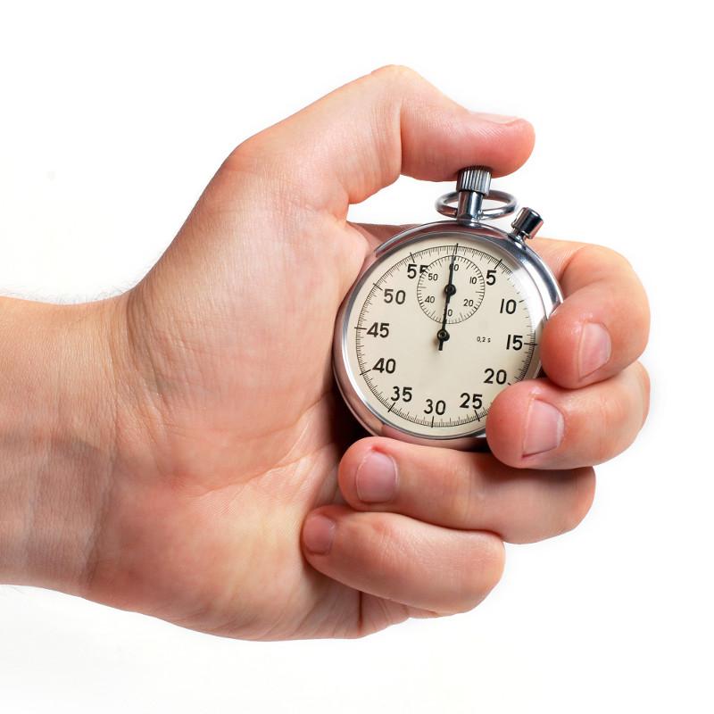 chronomètre main