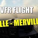 VFR Flight – Lille Merville